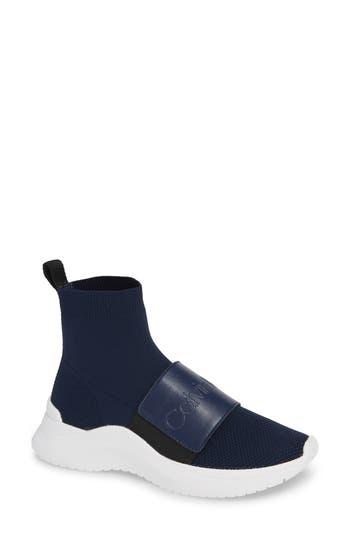 Uni Sock Knit Sneaker, Navy Fabric