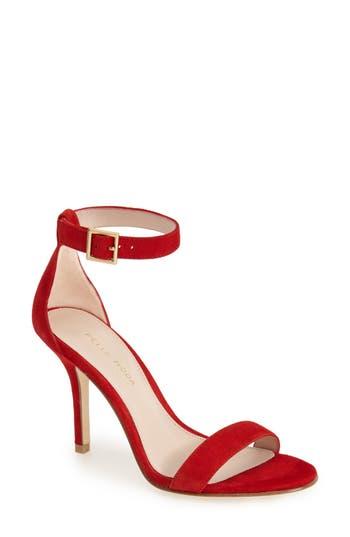 Women's Pelle Moda 'Kacey' Ankle Strap Sandal, Size 9.5 M - Red