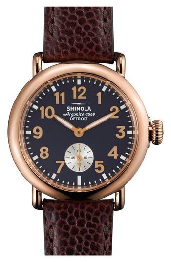 Women's Shinola 'The Runwell' Leather Strap Watch, 36Mm