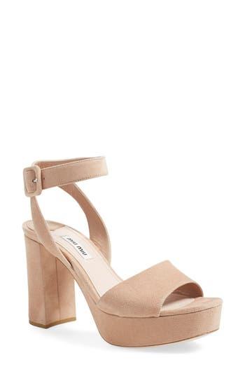 Women's Miu Miu 'Sandali' Ankle Strap Sandal