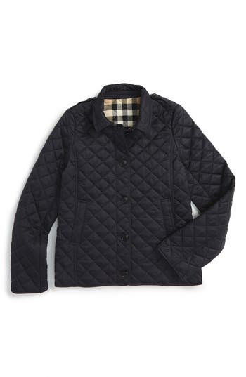 Girl's Burberry 'Mini Ashurst' Quilted Jacket