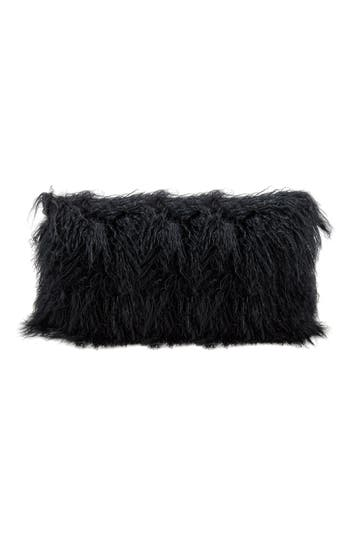 Mina Victory Genuine Tibetan Shearling Pillow, Size One Size - Beige