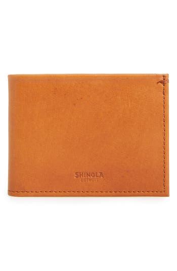Shinola Slim Bifold Leather Wallet - Brown