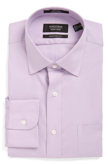 Men's Nordstrom Men's Shop Traditional Fit Non-Iron Solid Dress Shirt
