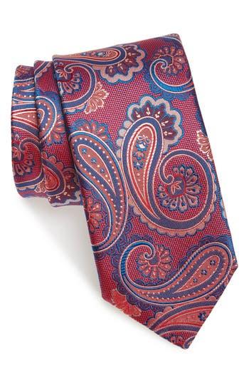 Men's Canali Paisley Silk Tie, Size Regular - Pink