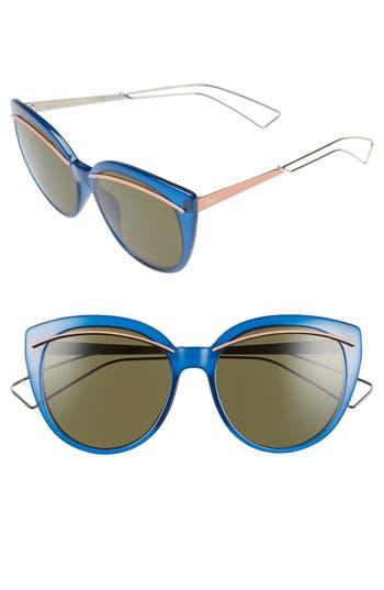 Women's Dior 'Liner' 56Mm Cat Eye Sunglasses - Grey/ Light Gold