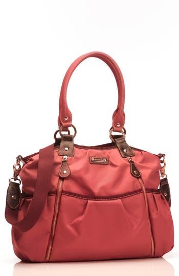 Infant Storksak 'Olivia' Nylon Diaper Bag - Red