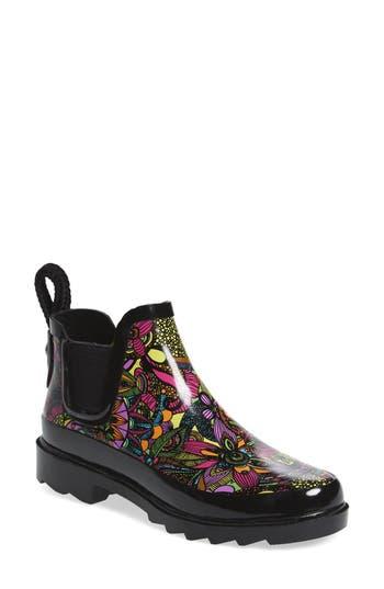 Sakroots Rhyme Waterproof Rain Boot, Black