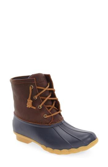 Sperry Saltwater Thinsulate(TM) Waterproof Rain Boot- Brown