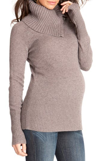 Women's Seraphine Zara Maternity/nursing Turtleneck Sweater