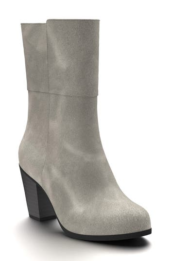 Shoes Of Prey Block Heel Boot - Grey