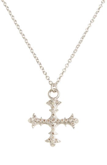 Women's Armenta Old World Diamond Cross Pendant Necklace