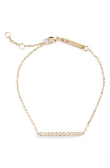 Zoe Chicco Diamond Bar Bracelet