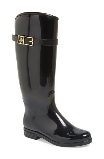 Dav Bristol Weatherproof Knee High Rain Boot, Black