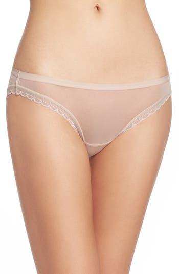 Women's On Gossamer Mesh Bikini, Size Large - Ivory