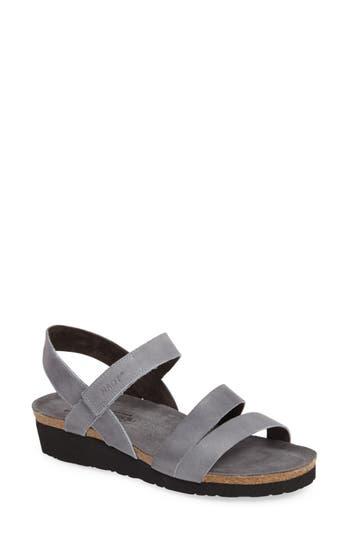 Women's Naot 'Kayla' Sandal, Size 10US / 41EU - Grey
