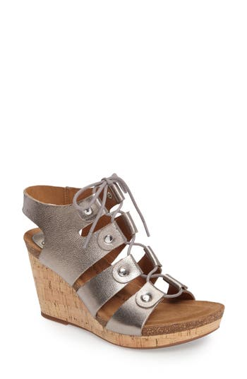 Women's Söfft Carita Lace-Up Wedge Sandal