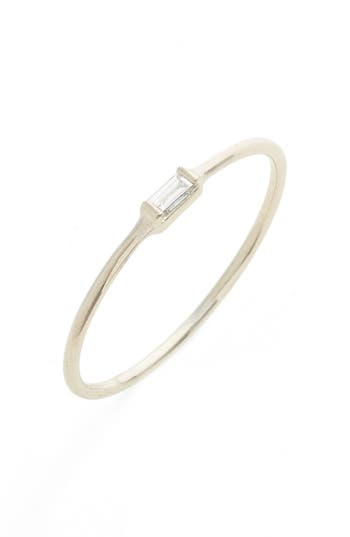 Women's Zoë Chicco Baguette Diamond Stacking Ring