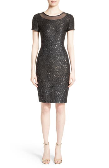 Women's St. John Collection Pranay Sequin Knit Sheath Dress