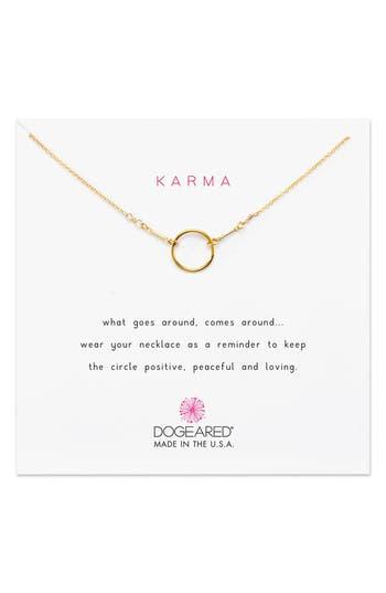 Women's Dogeared Karma Pendant Necklace