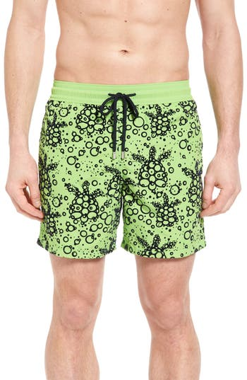 Men's Vilebrequin Bubble Turtle Print Swim Trunks