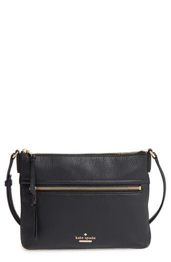 Kate Spade New York Jackson Street - Gabriele Leather Crossbody Bag - Black