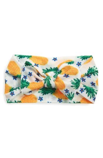Baby Bling Printed Knot Headband, Size One Size - Orange