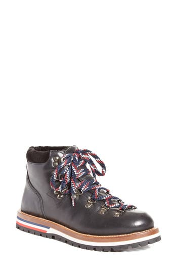 Moncler Blanche Lace-Up Boot Black