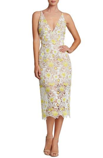 Women's Dress The Population Aurora Floral Midi Dress