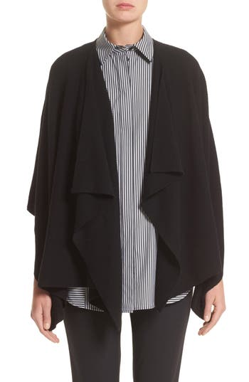 Women's Lafayette 148 New York Cashmere Wrap, Size One Size - Black