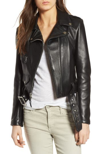 PERFECTO CROP LEATHER JACKET