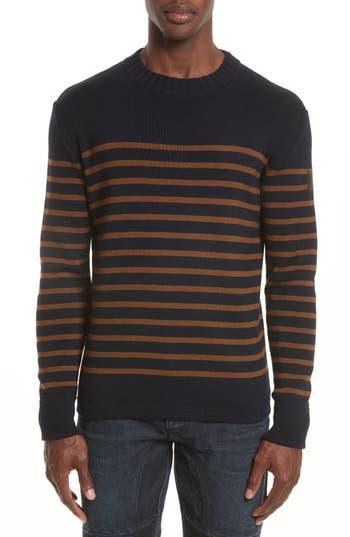 Men's Belstafff Gaynesford Stripe Wool Blend Sweater, Size Small - Blue