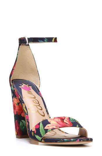 Sam Edelman Yaro Ankle Strap Sandal, Blue