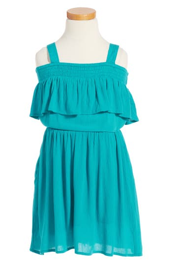 Girl's Zoe And Rose Off The Shoulder Dress
