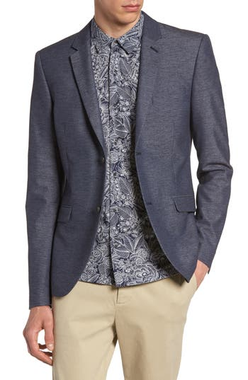 Men's Topman Slim Fit Jersey Blazer