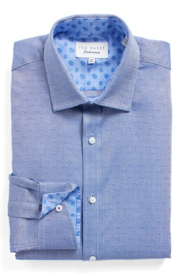Men's Ted Baker London Jamer Trim Fit Dot Dress Shirt