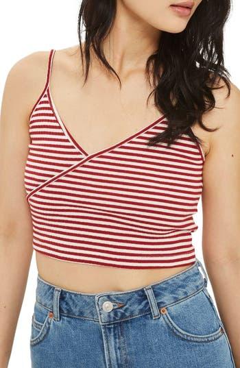 Women's Topshop Kaia Stripe Crop Camisole