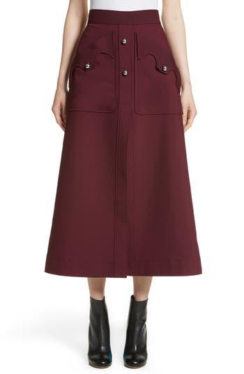 Women's Ellery Professor Patch Pocket Midi Skirt