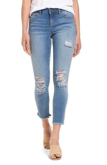 Women's Slink Jeans Frayed Hem Ankle Jeans