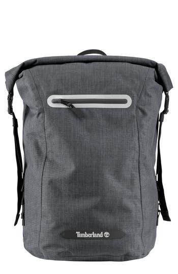 Men's Timberland Baxter Lake Waterproof Roll Top Backpack - Black