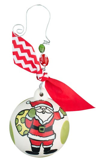 Glory Haus Santa Ball Ornament, Size One Size - Ivory