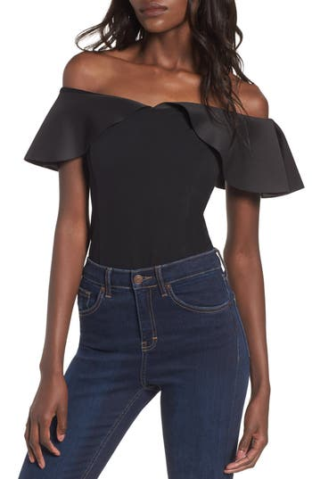 Women's Devlin Willa Bodysuit, Size Large - Black