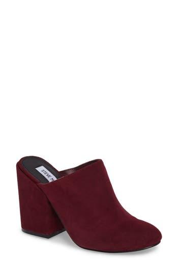 Women's Steve Madden Stella Block Heel Mule, Size 6 M - Burgundy