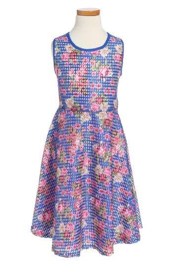 Girl's Pippa & Julie Floral Skater Dress