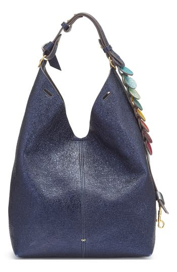 Anya Hindmarch Small Circles Leather Bucket Bag - Blue