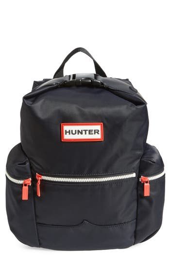 Hunter Original Mini Top Clip Nylon Backpack - Black