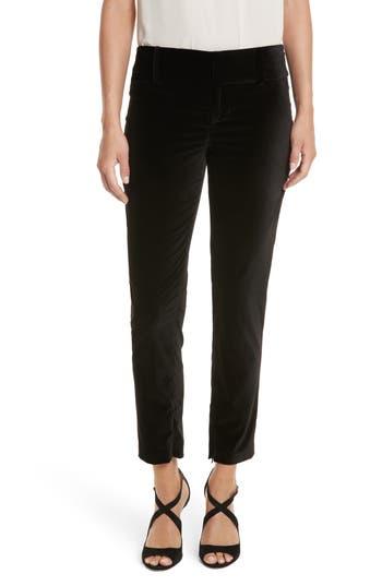 Women's Alice + Olivia Stacey Slim Velvet Ankle Pants