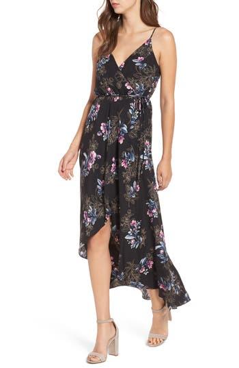 Women's Soprano Wrap Maxi Dress, Size X-Small - Black