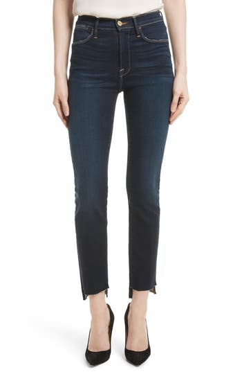 Le High Straight Raw Stagger Jeans