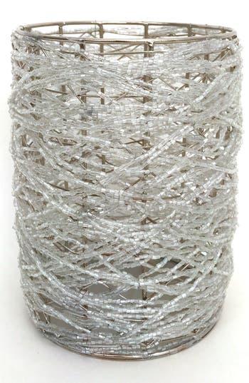 Arty Glass Bead Votive, Size One Size - White